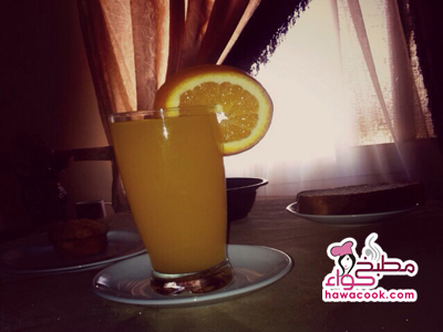 طريقة عمل عصير برتقال فريش