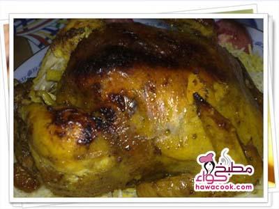 دجاج مشوي فى الفرن بالزبدة والثوم