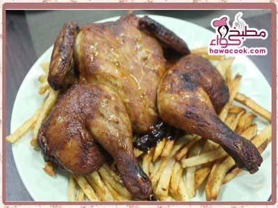 دجاج الشواية نفس المطاعم بفرن البيت