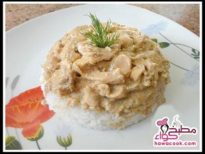 أرز بالفراخ المتبلة