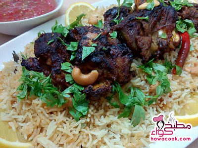 لحم مشوي مع الأرز
