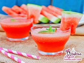 عصير البطيخ بالنعناع المنعش