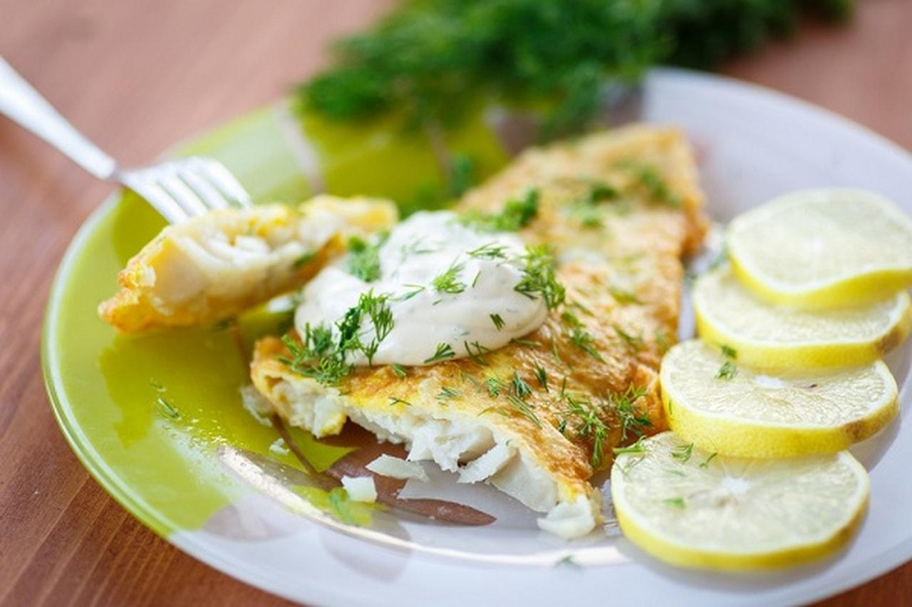 سمك فيليه مشوي بالثوم والليمون للرجيم