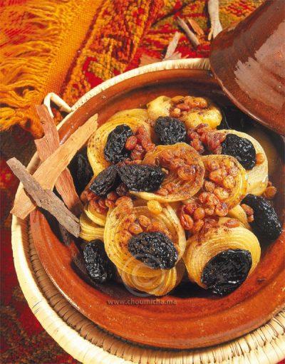 Tajine aux oignons pruneaux et raisins secs_1.