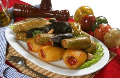 طريقة عمل خضار محشي بالفرن مجلة الطبخ العربي